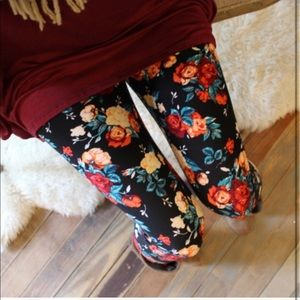 Infinity Raine Floral Print Brushed Knit Leggings